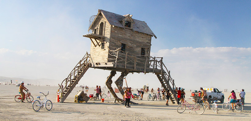 burning man art house structure
