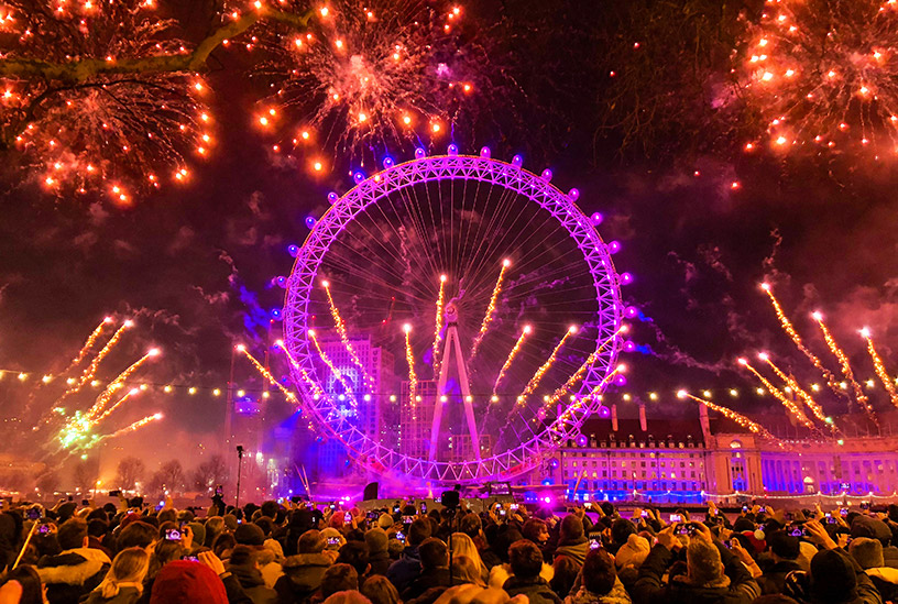 new years eve fireworks in london