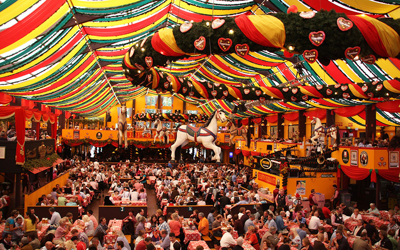 oktoberfest beer hall in munich germany