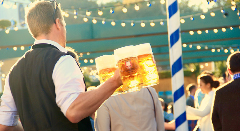 beer at oktoberfest in munich
