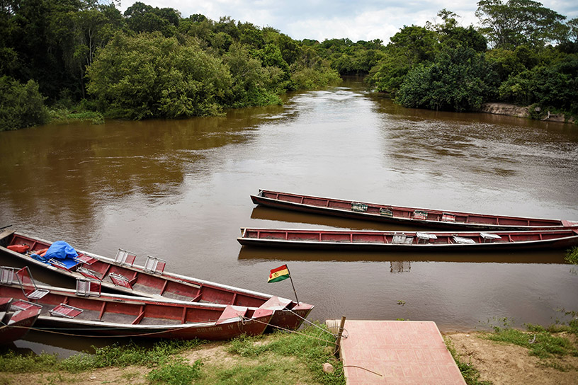 boats on the amazon