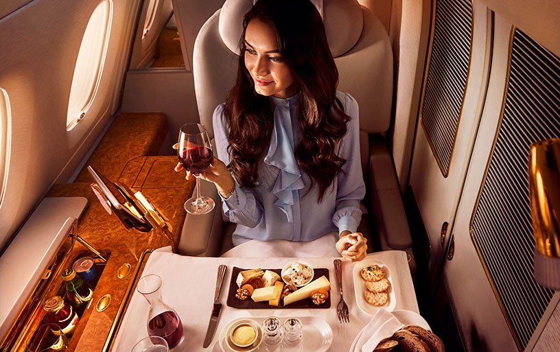 air flight meal on emirates first class