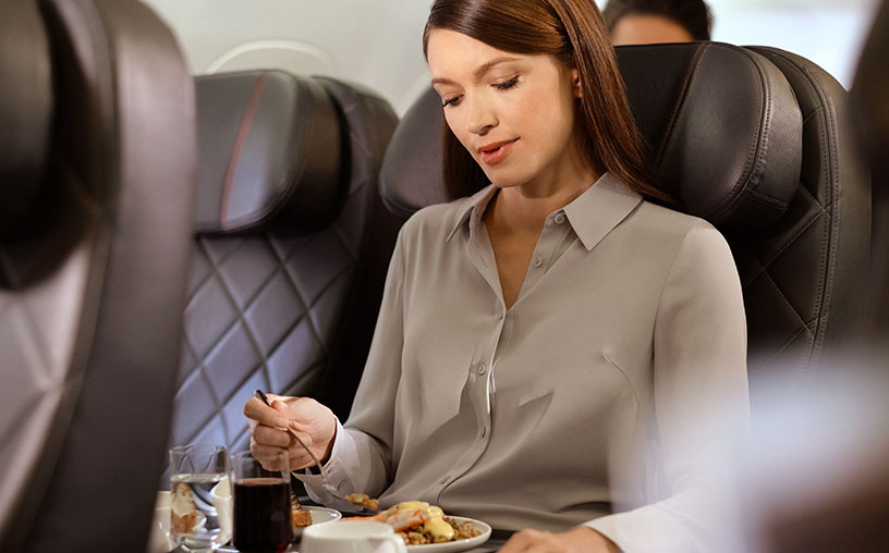 qantas business class meal