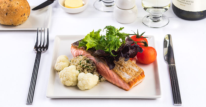 flight meal on Singapore airline