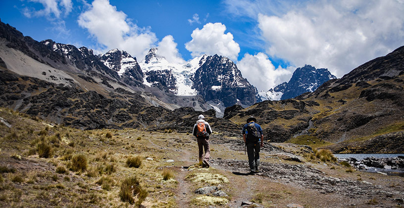 Bolivian hiking partners
