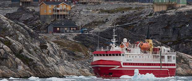 Coastal Ferry in the fiord, Greenland