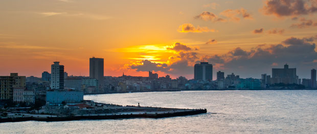 A sunset in Havana