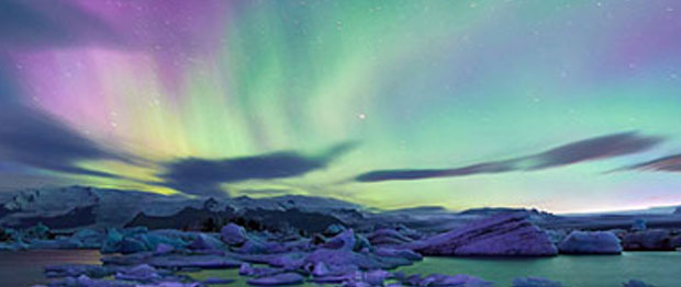 See the breathtaking Northern Lights when visiting Iceland