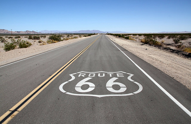 Take an iconic road trip along route 66 in the United States
