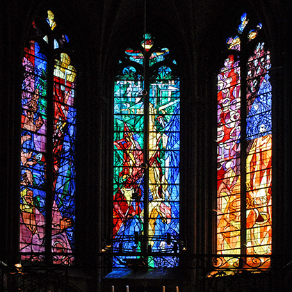 The Cathedrale St. Etienne is home to an incredible expanse of detailed stained glass that you have to see to believe.