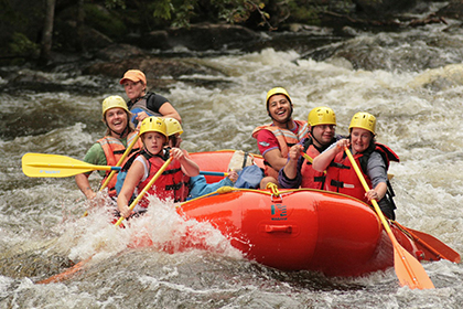 Whitewater rafting is an adrenaline-pumping adventure for everyone onboard.