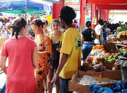 The Saturday markets in Victoria are great places to meet new people and try new foods in Seychelles