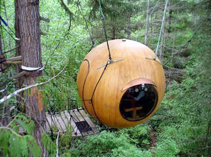 Free Spirit Spheres in Vancouver, Canada are the perfect retreat for someone looking for quiet and connection with nature.
