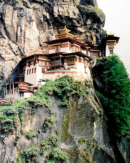 The Tiger's Nest Monastery in Bhutan is a remote but beautiful location