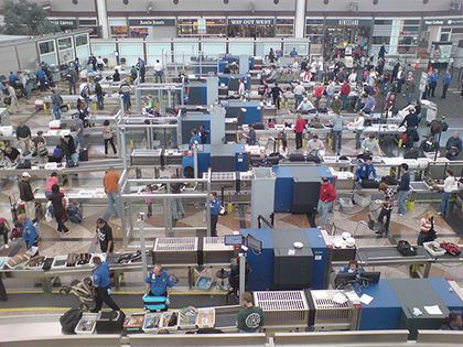 Just looking at the airport security screening process can make your stress levels sky-rocket.
