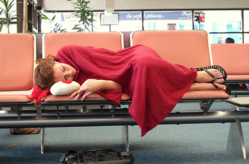 Trying to catch some shut-eye during a stop-over can be difficult. Check your airport amenities as many airports are now offering sleeping lounges to make it easier.
