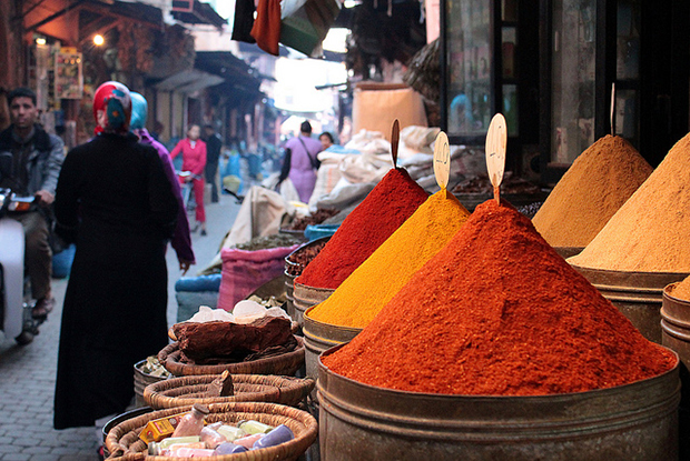 The markets in Marrakesh are some of the best places to discover new spices and find deals on souvenirs and other trinkets.