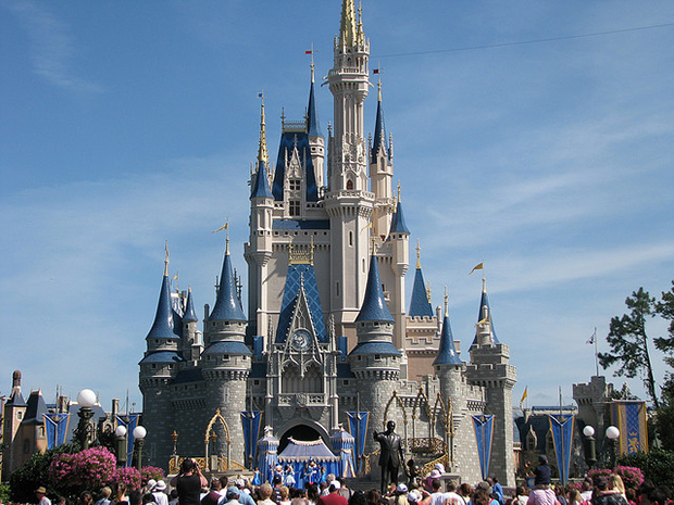 The Cinderella Castle at Disney World in Orlando, Florida is one of many family holiday destinations.