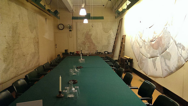 A peek at one of the exhibitions at the Churchill War Rooms in London.