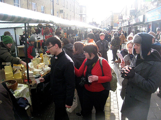 Check out Broadway Market for a more unique and true London market experience.