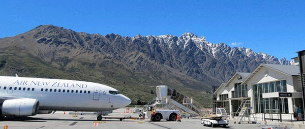 The view from Queenstown Airport was voted the best in the world by travellers.