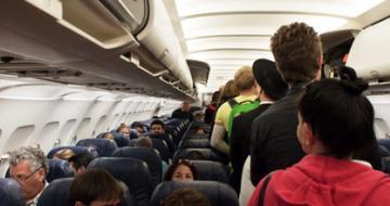 Crowded plane