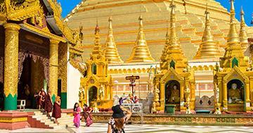Yangon's golden pagoda