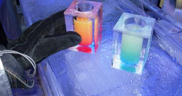 Drinks at icebar