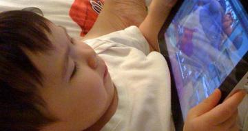 Child watching ipad