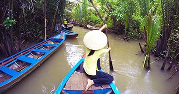 boat ride through mekong delta river
